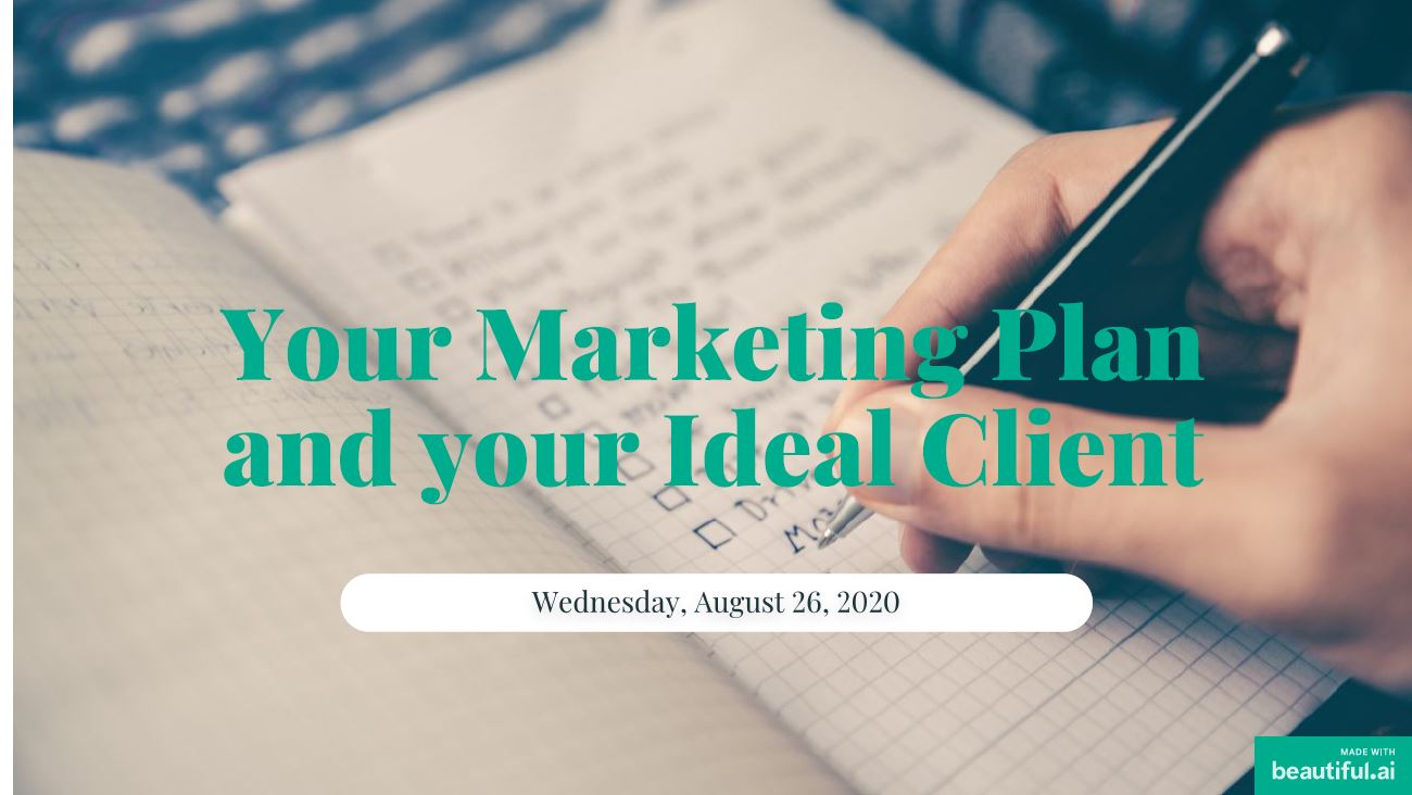 Bertha Robinson speaks about Your Marketing Plan and Your Ideal Client