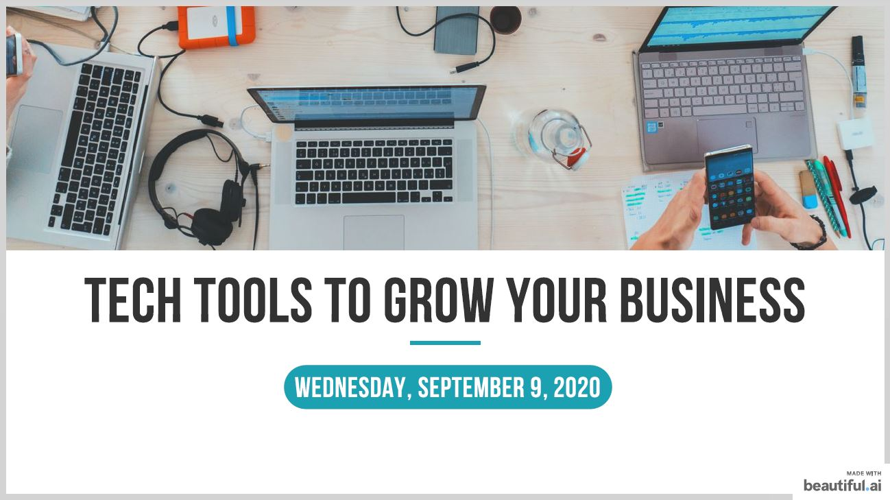 Tech Tools To Grow Your Business - Bertha Robinson
